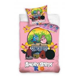 Detské obliečky Angry Birds - Rio ružové