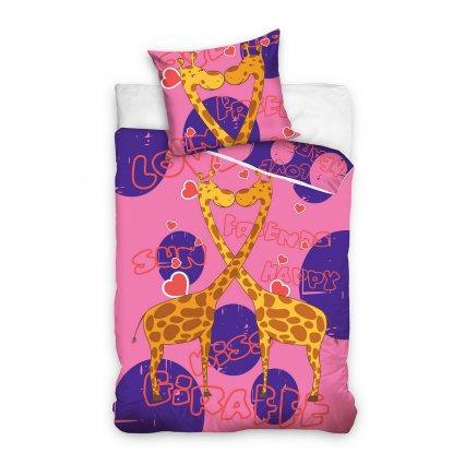 Detské obliečky Animal Planet - Ružové Žirafy