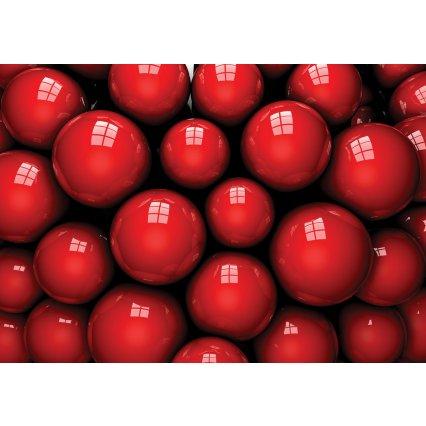 3D Fototapeta Červené gule
