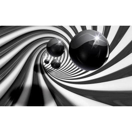 3D Fototapeta Čiernobiela abstrakcie