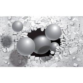 3D Fototapeta Guľa v stene