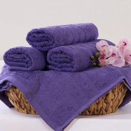 Bambusový uterák Alina - fialová 50 x 90 cm