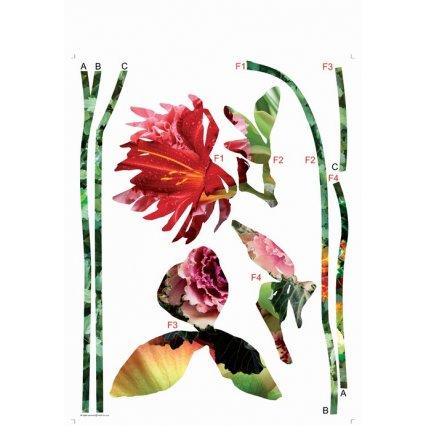 Samolepky na stenu kvety AGF00404