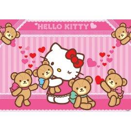 Výpredaj - Detská fototapeta Hello Kitty a Medvídci