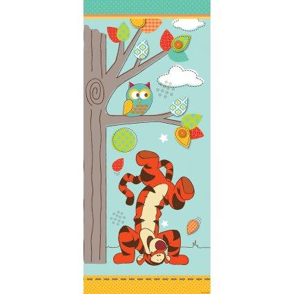 Výpredaj - Detská fototapeta na dvere Medvedík Pú a priatelia
