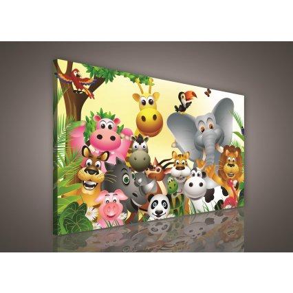 Obraz na plátne detský Zvieratka 100 x 75 cm