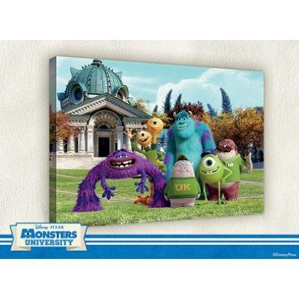 Výpredaj - Obraz na plátne detský Monster University 100 x 75 cm